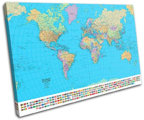 School World Atlas Maps Flags - 13-1781(00B)-SG32-LO